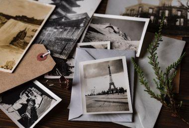 Shoebox of old photos