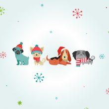 cute dog illustration