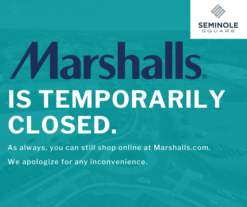 Marshalls is Temporarily Closed