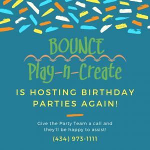 charlottesville bouce birthday parties